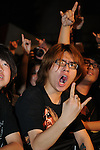 Puli, Taiwan -- Fans of the Taiwanese Black Metal band ChthoniC at the 'Final Battle at Sing Ling Temple' concert in Puli, Nantou county.