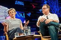 Hay on Wye, UK. Sunday 29 May 2016<br /> Pictured: Maxine Peake and Russell T Davies at the Hay festival<br /> Re: The 2016 Hay festival take place at Hay on Wye, Powys, Wales