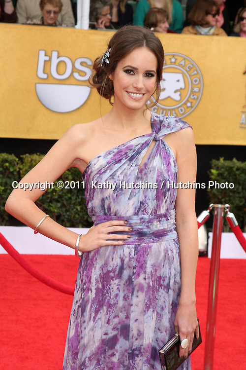 LOS ANGELES - JAN 30:  Louise Roe arrives at the 2011 Screen Actors Guild Awards  at Shrine Auditorium on January 30, 2011 in Los Angeles, CA
