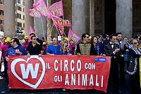 Roma, 2 Maggio 2017<br /> Manifestazione al Pantheon a favore degli animali nel Circo