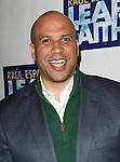 Cory Booker.attending the Broadway Opening Night Performance of 'LEAP OF FAITH' on 4/26/2012 at the St. James Theatre in New York City. © Walter McBride/WM Photography .