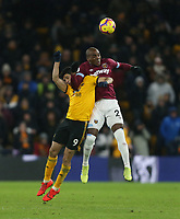 West Ham United's Angelo Ogbonna and Wolverhampton Wanderers' Raul Jimenez<br /> <br /> Photographer Rob Newell/CameraSport<br /> <br /> The Premier League - Wolverhampton Wanderers v West Ham United - Tuesday 29th January 2019 - Molineux - Wolverhampton<br /> <br /> World Copyright © 2019 CameraSport. All rights reserved. 43 Linden Ave. Countesthorpe. Leicester. England. LE8 5PG - Tel: +44 (0) 116 277 4147 - admin@camerasport.com - www.camerasport.com