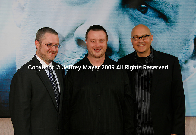 """HOLLYWOOD, CA. - September 24: Robert Venditti, Brett Weldele and Chris Staros arrive at the Los Angeles premiere of """"Surrogates"""" at the El Capitan Theatre on September 24, 2009 in Hollywood, California."""