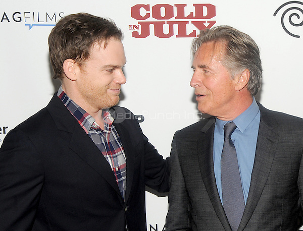 """New York, NY- May 21: Michael C. Hall and Don Johnson attend the Rooftop films """"Cold In July"""" New York screening at IFC Theater on May 21, 2014 in New York City. Credit: John Palmer/MediaPunch"""