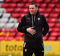 Notts County manager Kevin Nolan during the pre-match warm-up<br /> <br /> Photographer Andrew Vaughan/CameraSport<br /> <br /> The EFL Sky Bet League Two - Lincoln City v Notts County - Saturday 13th January 2018 - Sincil Bank - Lincoln<br /> <br /> World Copyright &copy; 2018 CameraSport. All rights reserved. 43 Linden Ave. Countesthorpe. Leicester. England. LE8 5PG - Tel: +44 (0) 116 277 4147 - admin@camerasport.com - www.camerasport.com