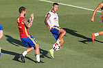 Spanish Sergio Ramos and Thiago Alcantara during the first training of the concentration of Spanish football team at Ciudad del Futbol de Las Rozas before the qualifying for the Russia world cup in 2017 August 29, 2016. (ALTERPHOTOS/Rodrigo Jimenez)