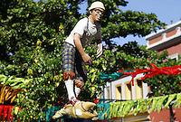RECIFE-PE-06.02.2016- CARNAVAL-PE-Estatua de Chico Science grande homenageado do Galo da Madrugada, maior bloco de carnaval do mundo, no centro de Recife, neste sábado, 06. (Foto: Jean Nunes/Brazil Photo Press)