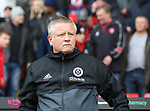 Chris Wilder manager of Sheffield Utd during the championship match at the Bramall Lane Stadium, Sheffield. Picture date 28th April 2018. Picture credit should read: Simon Bellis/Sportimage