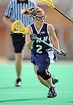 9 April 2008: University of New Hampshire Wildcats' Attackman Sarah Von Bargen, a Junior from East Setauket, NY, in action against the University of Vermont Catamounts at Moulton Winder Field, in Burlington, Vermont. The Catamounts rallied to defeat the visiting Wildcats 9-8 in America East divisional play...Mandatory Photo Credit: Ed Wolfstein Photo