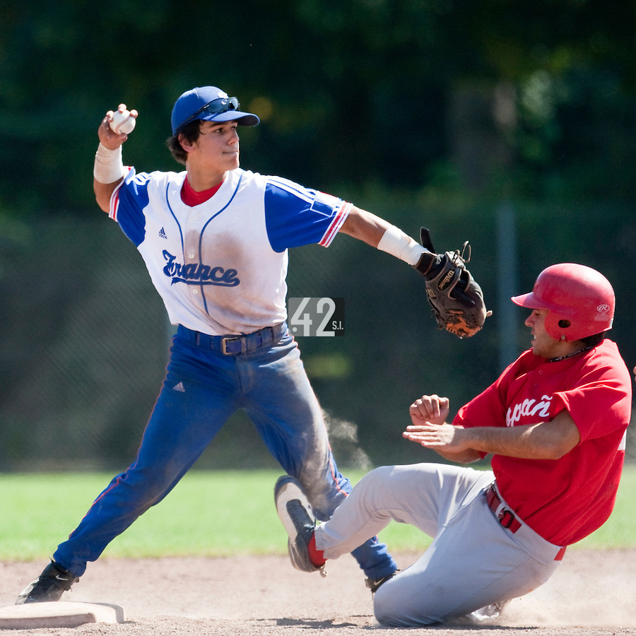 Baseball - 2009 European Championship Juniors (under 18 years old) - Bonn (Germany) - 05/08/2009 - Day 3 - Maxime Lefevre (France)