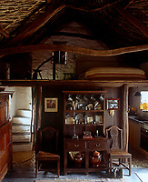 "The cottage is a traditional ""croglofft"" - a room overhung by a sleeping platform"