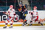 Stockholm 2014-02-24 Ishockey Hockeyallsvenskan Djurg&aring;rdens IF - S&ouml;dert&auml;lje SK :  <br /> Djurg&aring;rdens Henrik Eriksson jublar efter att ha gjort 3-1 f&ouml;r Djurg&aring;rden i slutet av matchen<br /> (Foto: Kenta J&ouml;nsson) Nyckelord:  jubel gl&auml;dje lycka glad happy