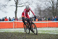 Picture by Allan McKenzie/SWpix.com - 10/12/17 - Cycling - HSBC UK National Cyclo-Cross Championships - Round 5, Peel Park - Bradford, England - Ffion James takes victory in the women's elite race.