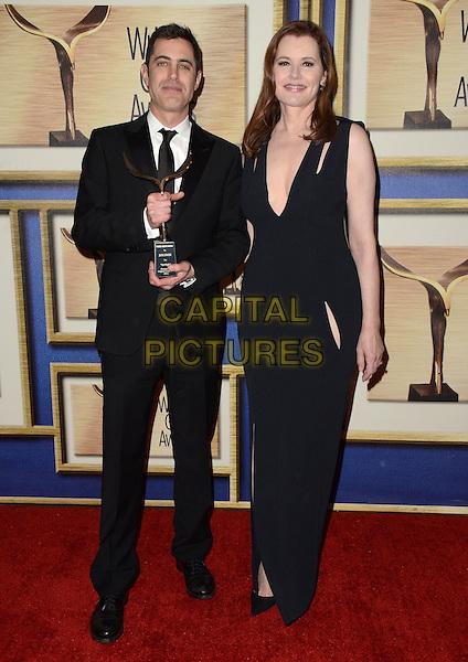 13 February  - Los Angeles, Ca - Josh Singer, Gina Davis. The 2016 Writer's Guild Awards - Press Room held at Hyatt Regency Century Plaza.  <br /> CAP/ADM/BT<br /> &copy;BT/ADM/Capital Pictures