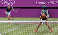 ..Tennis - OLympic Games -Olympic Tennis -  London 2012 -  Wimbledon - AELTC - The All England Club - London - Saturday 4th August  2012. .© AMN Images, 30, Cleveland Street, London, W1T 4JD.Tel - +44 20 7907 6387.mfrey@advantagemedianet.com.www.amnimages.photoshelter.com.www.advantagemedianet.com.www.tennishead.net