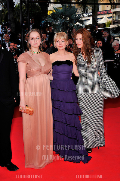 "Samantha Morton (left), Michelle Williams & Catherine Keener at premiere for their new movie ""Synecdoche, New York"" at the 61st Annual International Film Festival de Cannes. .May 23, 2008  Cannes, France..Picture: Paul Smith / Featureflash"