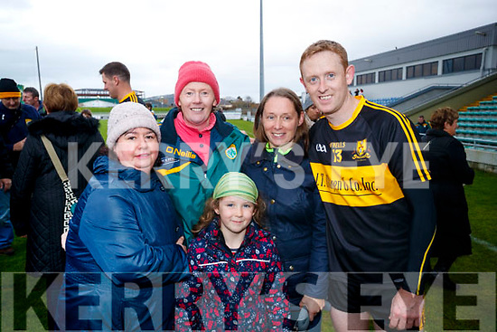 Dr Crokes fans pictured at the Garvey's Senior Football Championship, Dr Crokes v South Kerry, at the Austin Stack Park, Tralee on Sunday last were l-r: Maura Costello, Anne Costello, Aoife Cooper, Helen Cooper and Colm Cooper