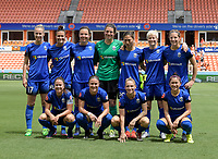 Houston, TX - Saturday May 27, 2017: Seattle Reign FC team photo. during a regular season National Women's Soccer League (NWSL) match between the Houston Dash and the Seattle Reign FC at BBVA Compass Stadium.