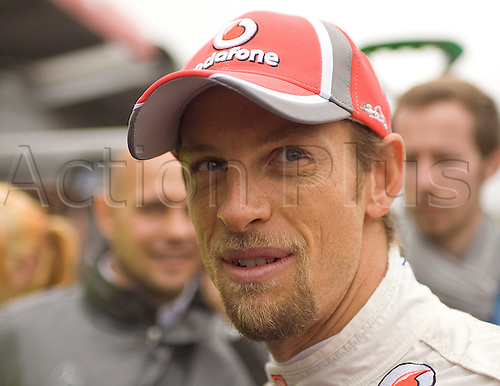 20.05.2012 Brands Hatch, Mercedes F1 driver Jenson Button visits pit lane before Sunday's Raceday in the 2012 DTM Championship, Kent, England
