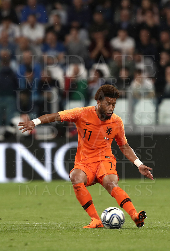International friendly football match Italy vs The Netherlands, Allianz Stadium, Turin, Italy, June 4, 2018. <br /> Netherlands' Tonny Vilhena in action during the international friendly football match between Italy and The Netherlands at the Allianz Stadium in Turin on June 4, 2018.<br /> UPDATE IMAGES PRESS/Isabella Bonotto