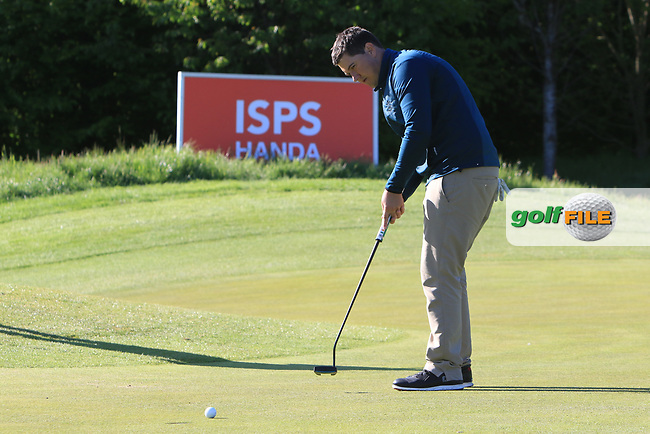 Colm Campbell Jnr (Warrenpoint) on the 18th green with a putt to win the Ulster Stroke Play Championship at Galgorm Castle Golf Club, Ballymena, Northern Ireland. 28/05/19<br /> <br /> Picture: Thos Caffrey / Golffile<br /> <br /> All photos usage must carry mandatory copyright credit (© Golffile | Thos Caffrey)