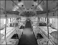 BNPS.co.uk (01202 558833)<br /> Pic: StationKitchen/BNPS<br /> <br /> The interior of the carriage when it was used as a hospital during the First Wold War.<br /> <br /> A First World War ambulance train carriage that carried wounded soldiers to safety from the front line has been given a new lease of life as a quirky fine dining restaurant.<br /> <br /> Ross Moore and his wife Claire have added the dining carriage to their restaurant Station Kitchen, which they run from an old railway station in West Bay, Dorset, and it is proving a big hit with foodies travelling from all over the country - and the world - to eat there.<br /> <br /> The business started with Claire selling cakes and scones at Bridport Market six years ago, but grew into an award-winning catering company, Sausage and Pear.<br /> <br /> The couple set up their quirky restaurant in November 2015 and added the new dining carriage in October last year, which is already proving so popular with their patrons they have turned the old dining room into a lounge and cocktail bar.
