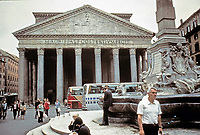 Entrance to the Pantheon showing the portico and columns, Rome Italy, 118-125 CE.