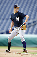 July 10, 2009:  Starting Pitcher Matthew Richardson (6) of the GCL Yankees delivers a pitch during a game at Bright House Networks Field in Clearwater, FL.  The GCL Yankees are the Gulf Coast Rookie League affiliate of the New York Yankees.  Photo By Mike Janes/Four Seam Images