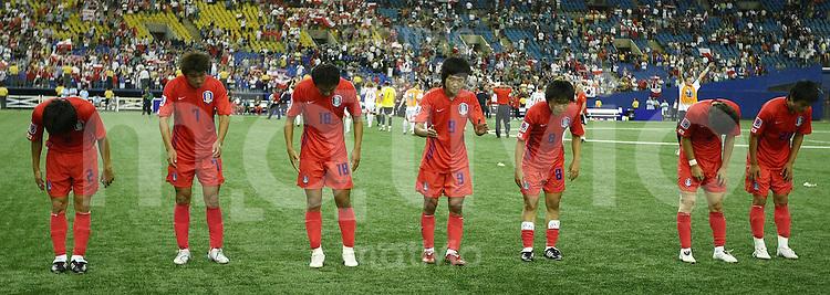 Fussball International U 20 WM  Polen 1-1 Korea Enttaeuschung KOR veranschieden sich aus Canada