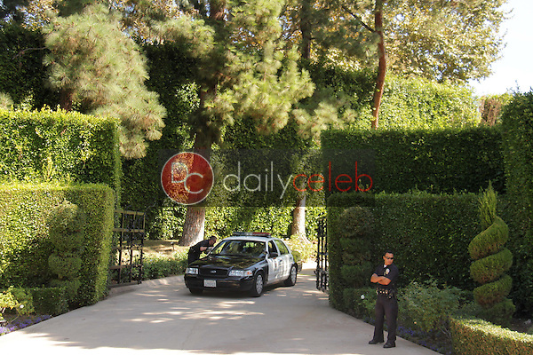 Police<br /> at a protest involving Casey Kasem's children, brother and friends who want to see him but have been denied any contact,  Private Location, Holmby Hills, CA 10-01-13<br /> David Edwards/Dailyceleb.com 818-249-4998