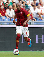 Calcio, Serie A: Roma vs Cagliari. Roma, stadio Olimpico, 21 settembre 2014.<br /> Roma defender Maicon, of Brazil, in action during the Italian Serie A football match between AS Roma and Cagliari at Rome's Olympic stadium, 21 September 2014.<br /> UPDATE IMAGES PRESS/Riccardo De Luca