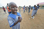 Five-year old Saloma Nyandeng Duot leads her classmates in singing on April 13, 2017, at an early childhood development center in Panyagor, a town in South Sudan's Jonglei State. <br /> <br /> The Lutheran World Federation, a member of the ACT Alliance, is helping families in the region, which is torn by both war and drought, to educate their children, with a special focus on insuring that girls enter and remain in school.<br /> <br /> Parental consent obtained for main subject.