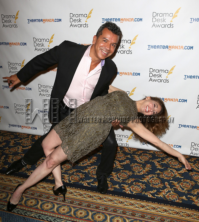 Sergio Trujillo, Lorin Latarro attending The 2013 Drama Desk Nominees Reception at JW Mariott Essex House Hotel in New York City on 5/8/2013...
