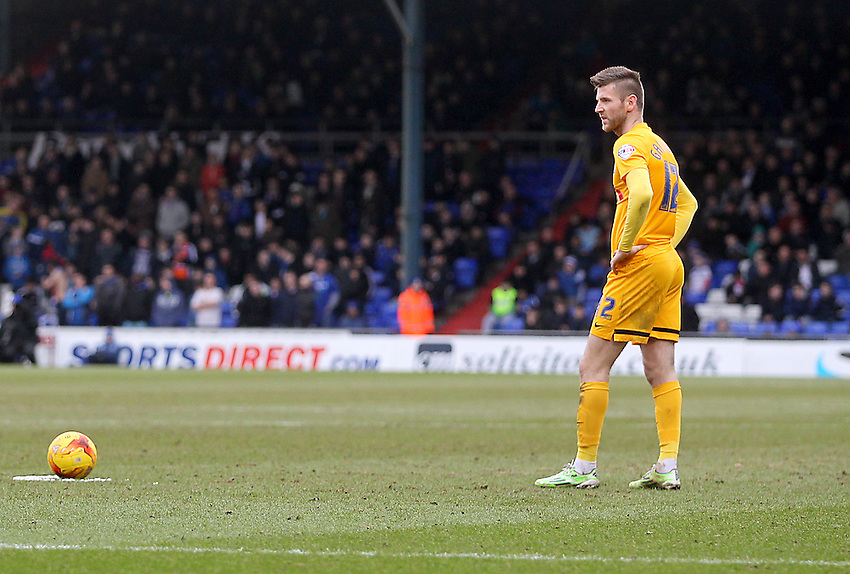 Preston North End's Paul Gallagher<br /> <br /> Photographer Mick Walker/CameraSport<br /> <br /> Football - The Football League Sky Bet League One - Oldham Athletic v Preston North End - Saturday 28th February 2015 - SportsDirect.com Park - Oldham<br /> <br /> &copy; CameraSport - 43 Linden Ave. Countesthorpe. Leicester. England. LE8 5PG - Tel: +44 (0) 116 277 4147 - admin@camerasport.com - www.camerasport.com
