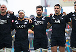 Hayden Triggs (L), Ash Dixon, Mitchell Crosswell, Ben May, Jacob Skeen. Maori All Blacks vs. Fiji. Suva. MAB's won 27-26. July 11, 2015. Photo: Marc Weakley