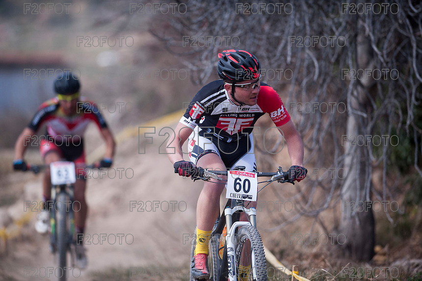 Chelva, SPAIN - MARCH 6: Xavi Calaf during Spanish Open BTT XCO on March 6, 2016 in Chelva, Spain