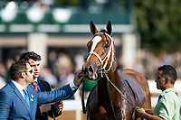October 06 2018 : Brad Cox with Golden Mischief after the Thoroughbred Club of America States at Keeneland Racecourse on October 05, 2018 in Lexington, Kentucky. Evers/ESW/CSM