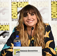 FX FEARLESS FORUM AT SAN DIEGO COMIC-CON© 2019: Cast Member Natasia Demetriou during the WHAT WE DO IN THE SHADOWS panel on Saturday, July 20 at SAN DIEGO COMIC-CON© 2019. CR: Frank Micelotta/FX/PictureGroup © 2019 FX Networks