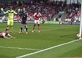 08/05/2016 Sky Bet League 1 Fleetwood Town v <br /> Crewe Alexandra<br /> David Ball's shot goes wide