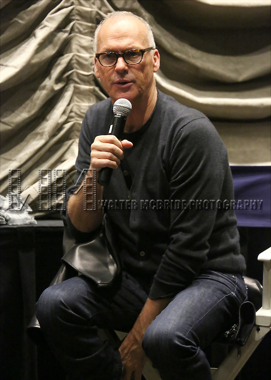 Michael Keaton introduces the Broadway Industry Screening of 'Birdman' at Dolby 88 on October 13, 2014 in New York City.