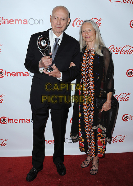 LAS VEGAS, CA - APRIL 23:  Alan Arkin poses with the Big Screen Achievement Award at the CinemaCon 2015 Big Screen Achievement Awards at the Colosseum at Caesars Palace on April 23, 2015 in Las Vegas, Nevada. <br /> CAP/MPI/PGSK<br /> &copy;PGSK/MediaPunch/Capital Pictures