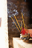 VIETNAM, Hanoi, Countryside, incense burns at a small temple in the village of Y, Thanh Bac Ninh