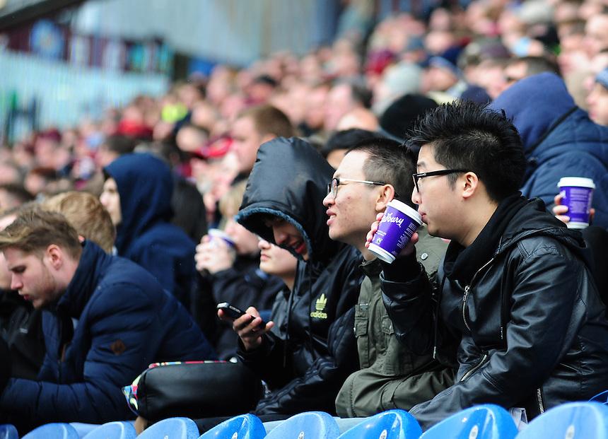 Burnley fans during the second half<br /> <br /> Photographer Chris Vaughan/CameraSport<br /> <br /> Football - Barclays Premiership - Burnley v Leicester City - Saturday 25th April 2015 - Turf Moor - Burnley<br /> <br /> &copy; CameraSport - 43 Linden Ave. Countesthorpe. Leicester. England. LE8 5PG - Tel: +44 (0) 116 277 4147 - admin@camerasport.com - www.camerasport.com