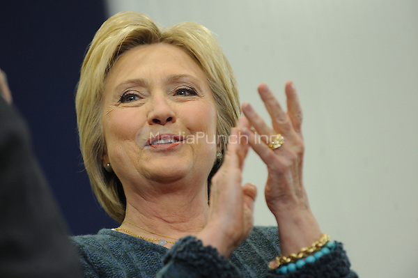 PORTSMOUTH, NH - FEBRUARY 6: Hillary Clinton, former Secretary of State and 2016 Democratic presidential candidate, speaks during a campaign event in Portsmouth, New Hampshire on February 6, 2016. Credit: Dennis Van Tine/MediaPunch