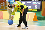 Genrik Pavliukianec (LTU),<br /> SEPTEMBER 16, 2016 - Goalball : <br /> Men's Final match between Lithuania 14-8 USA<br /> at Future Arena<br /> during the Rio 2016 Paralympic Games in Rio de Janeiro, Brazil.<br /> (Photo by Shingo Ito/AFLO)
