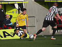 Conor Hogg in the St Mirren v Falkirk Clydesdale Bank Scottish Premier League Under 20 match played at St Mirren Park, Paisley on 30.4.13. ..