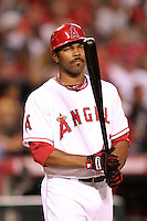 Los Angeles Angels second baseman Howie Kendrick #47 bats against the New York Yankees at Angel Stadium on June 4, 2011 in Anaheim,California. Larry Goren/Four Seam Images
