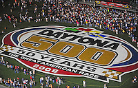 Feb 9, 2008; Daytona, FL, USA; Nascar Sprint Cup Series fans wait for driver introduction the Bud Shootout at Daytona International Speedway. Mandatory Credit: Mark J. Rebilas-US PRESSWIRE
