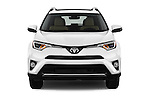 Car photography straight front view of a 2016 Toyota RAV4 Limited 5 Door SUV Front View
