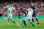 League Santander 2017/2018. Game: 01.<br /> FC Barcelona vs Real Betis: 2-0.<br /> Lionel Messi vs Nahuel.